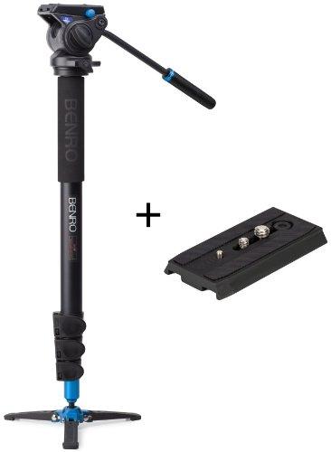 Benro Video Monopod with Flip Lock Legs, S4 Head and 3 Leg B