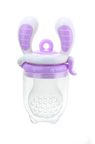 [Award Winning] Kidsme Food Feeder (Large Size) Color: White/Purple Newborn, Kid, Child, Childern, Infant, Baby front-91964