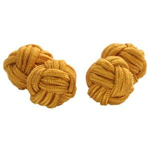 Mustard Yellow Knot Cufflinks