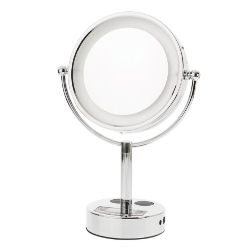 Danielle Chrome Led Lighted 2-Side Swivel Vanity Make-Up Mirror With 10X Magnification