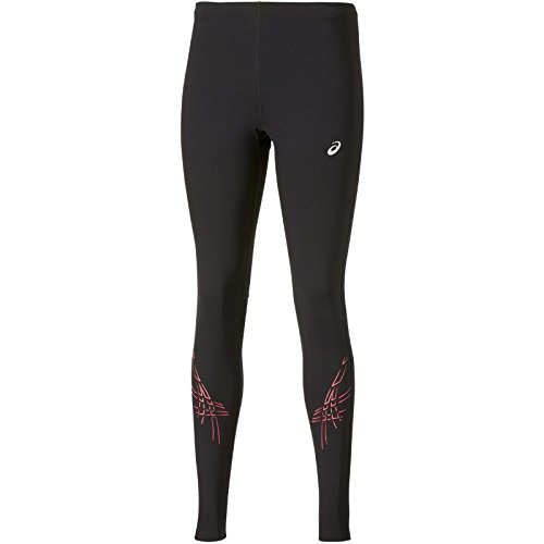 Asics Stripe Tights abbigliamento donna, Unisex, Oberbekleidung Stripe Tights, nero, XS