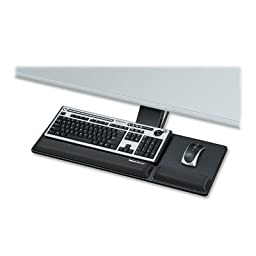 Fellowes Designer Suites 8017801 Compact Keyboard Tray - 3amp;quot; x 27.5amp;quot; x 18amp;quot; - Black