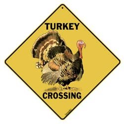 Animal Xing Sign - Turkey Crossing Sign