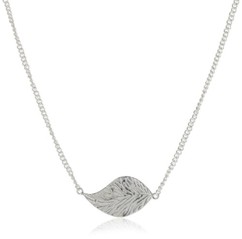 "MELINDA MARIA ""Leaf Collection"" Platinum Plated Baby Leaf Necklace"