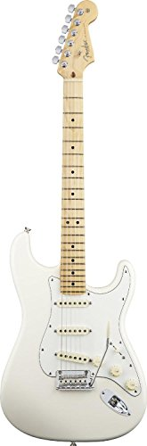 Fender American Standard Stratocaster Electric Guitar, Maple Fingerboard - Olympic White
