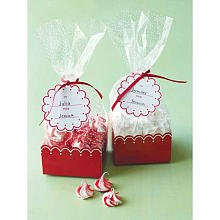 Red Scallop Treat Bags & Tags