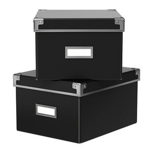 Ikea Kassett Dvd Storage Box With Lid 2 Pack