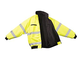 Bomber Jacket, Yes Insulated, Lime Green, L