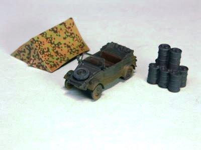 ドイツ軍 キューベルワーゲン 乗用車  単色迷彩(ジャーマングレイ)