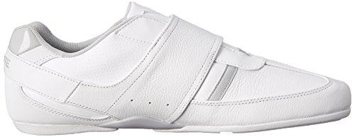 Lacoste Men's Prtctdvar Fashion Sneaker, White/Light Grey, 10.5 M US