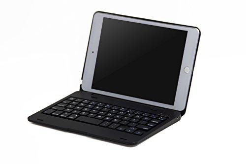 iPad mini4 ケース,IVSO®オリジナルiPad mini4 ケース,iPad mini4 専用 超薄型Bluetooth接続キーボード 内蔵アルミケース キーボード兼スタンド兼カバー - iPad mini4だけ 適用(ブラック)