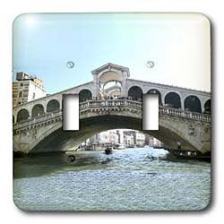 Vacation Spots - Rialto Bridge - Light Switch Covers - double toggle switch