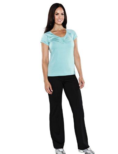 Tri-Mountain Womens Poly/Span 90/10 Training Pant 042 - Black_2Xl front-624898