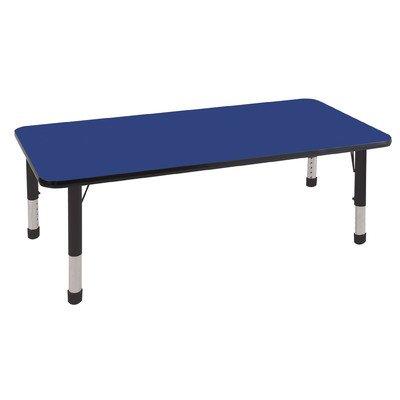 30 x60 rectangular activity table toddler legs w swivel glides oak black olean new york - Table glides for legs ...