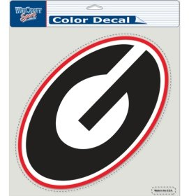 NCAA Team 8x8 Perfect Die Cut Decal (Georgia Bulldogs) (Georgia State University Decal compare prices)