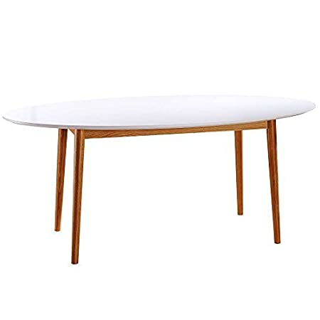 Design Dining Table In Vermont, Weiss, Solid Oak Frame, MDF 190 x 100 x 76 cm