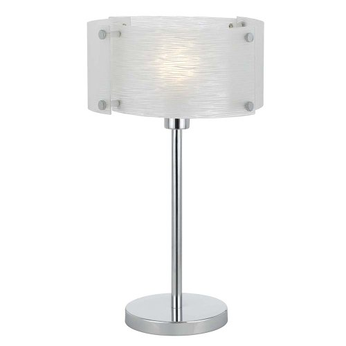 Cal Lighting BO-2327TB Elliptical Glass Table Lamp, 60-watt,  Shimmery Glass/Chrome