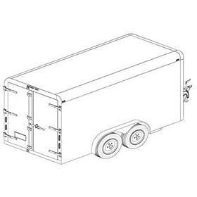 Trailer Blueprints - 12Ft. Covered Cargo Trailer