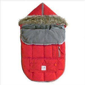 "7AM Enfant ""Le Sac Igloo"" Footmuff, Converts into a Single Panel Stroller and Car Seat Cover, Red, Medium"