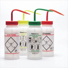 Fisherbrand Solvent-Venting Wash Bottles, Capacity: 500Ml; Ethyl Acetate front-786665