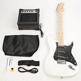 Moppi ST Schwarz Pickguard E-Gitarre mit Verstärker Weiße Bag Strap Werkzeug Pick- online kaufen