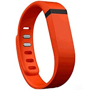Replacement Wrist Band for Fitbit Flex (Orange Sorbet, Large)