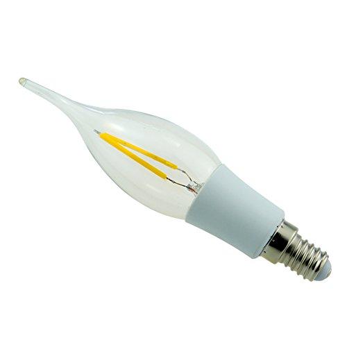 Generic Led Filament Bulb Lamp 2W Warm White Light E27 85-265V
