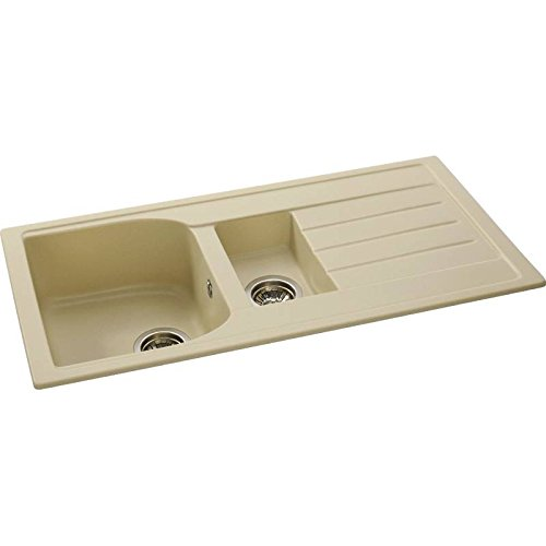 Abode ORIEL 1.5 Bowl SABLE Granite Kitchen Sink - AW3117