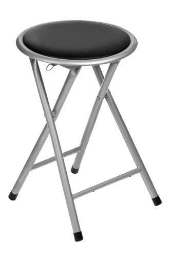 premier-housewares-round-folding-stool-black