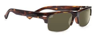 Serengeti RX Eyewear Vasio Sunglasses (Dark Tortoise, Polarized)