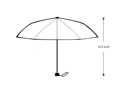 POOKOO!! Vintage Elephant Art Personalized Custom Foldable Rain Umbrella 43.5 inch Wide Good Gift 1