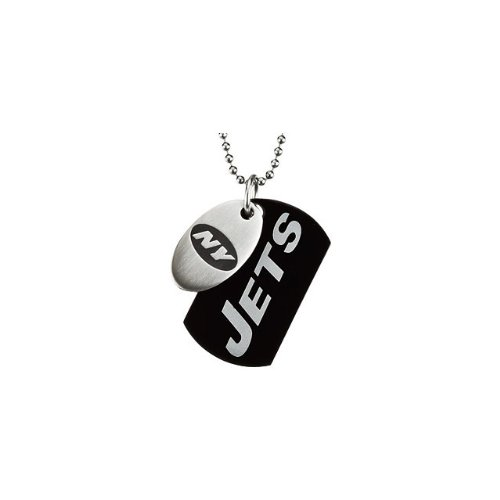 8 St Steel 45mm New York Jets NFL Football Team Jewelry Men 2 Dog Tag W/Chain