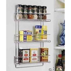 Neu Home 1812 Organize It All 3-Tier Wall-Mounted Spice Rack, Chrome