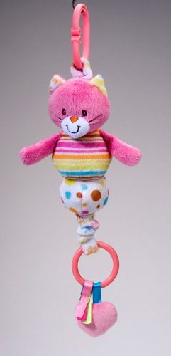 Ultra Soft and Colorful Playtivity Kitty Pullee Zip Plush Toy