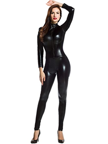 amour-catsuit-women-bodysuit-zip-up-clubwear-stripper-regular-size-black