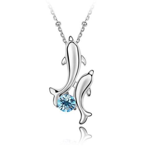 Boxingcat Fine Jewelry Swarovski Style Clear Austrian Crystal Pendant Necklaces Bgca5005 front-1002629