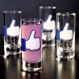 Social Media Like Shot Glasses