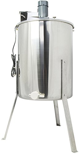 VIVO New Electric Four 4 Frame Stainless Steel Honey Extractor Model (BEE-V004E) (Electric Honey Extractor compare prices)