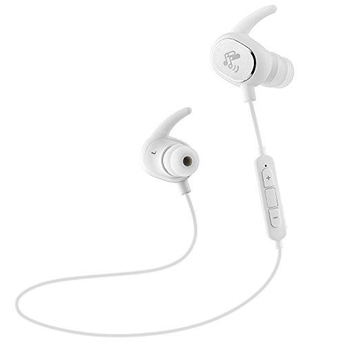 SoundPEATS Bluetooth イヤホン 高音質 [メーカー直販/1年保証付] Bluetooth 4.1 apt-Xコーデック採用 防水防滴 スポーツ仕様 ワイヤレス イヤホン マイク内蔵 ハンズフリー通話 CVC6.0 ノイズキャンセリング搭載 Bluetooth ヘッドホン Q15 ホワイト