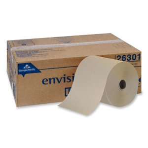 "Georgia Pacific Corp. Envision Roll Towels Non-Perf, 7-7/8""X800', 6/Ct, Bn front-706895"