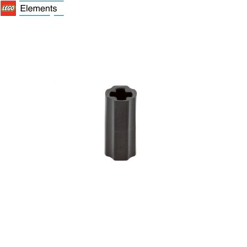 Lego Parts: Technic, Axle Connector Smooth (Black) front-905900