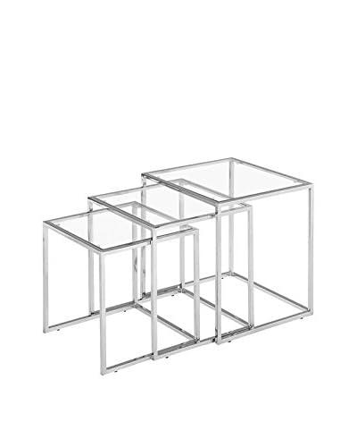 Zuo Modern Pasos Glass Nesting Tables