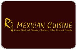 Rj Mexican Cuisine Gift Certificate ($25) front-902447