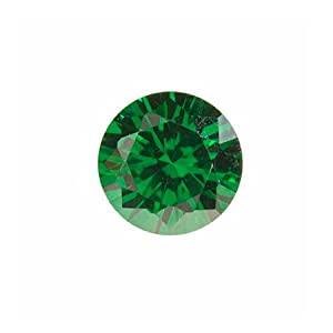 5mm Round Emerald Green Cz - Pack Of 5