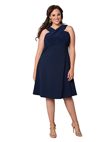 Kiyonna Women\'s Plus Size Marina Love Dress 3X Dark Indigo