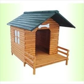 リーベ ログハウス調 天然木製(大) 犬小屋 クロエ ●20141950-001