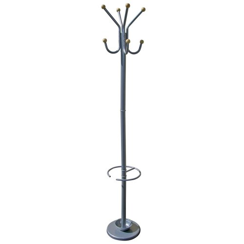 ORE Furniture International 72-Inch Coat Rack with Umbrella Holder, Silver
