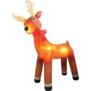 CHRISTMAS DECORATION LAWN YARD INFLATABLE REINDEER ANIMATED 11' TALL
