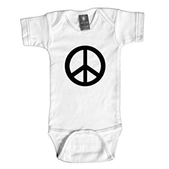 Rebel Ink Baby 341W612 Peace- 6-12 Month White One Piece Undershirt