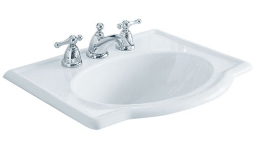 Great  Detail shop American Standard Retrospect Vitreous China Countertop Sink with Faucet Holes on Inch Centers White
